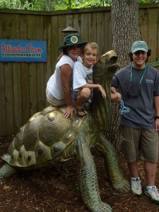 Lauren, Max & Rick Schaffer at St Augustine Alligator Farm